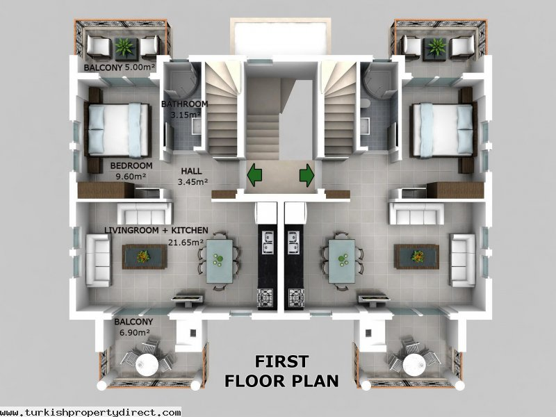 Hisar Apartments Hisaronu 1st Floor Duplex Off Plan