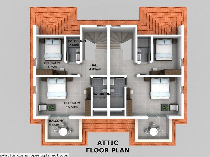 hisar apartments hisaronu ground floor off plan attic floor plan design ahomeplan com